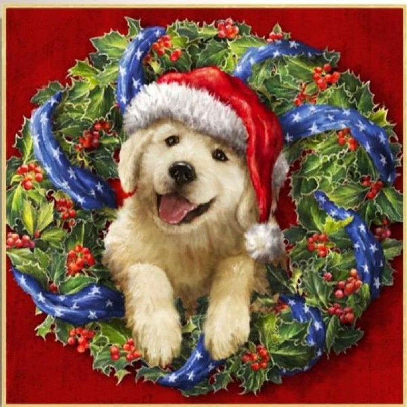 Christmas Wreath Pup...