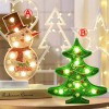Christmas Tree And Snowman LED Lights