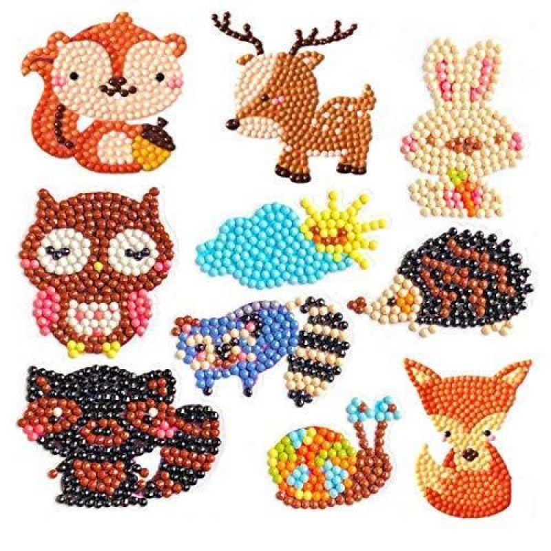 5D Animal Stickers