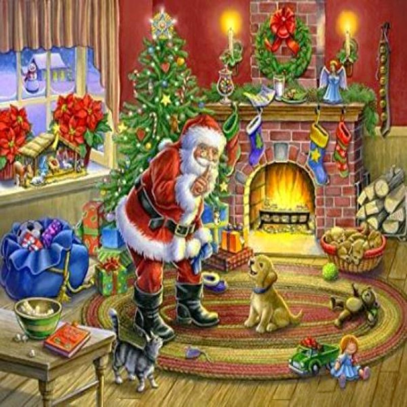 Santa Claus With Pet...