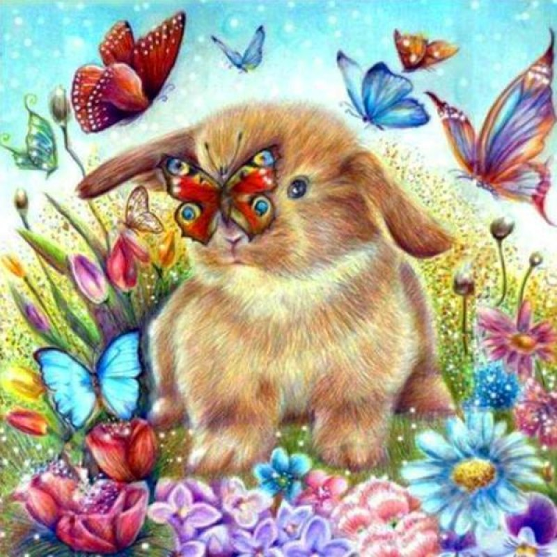Bunny With Butterfli...