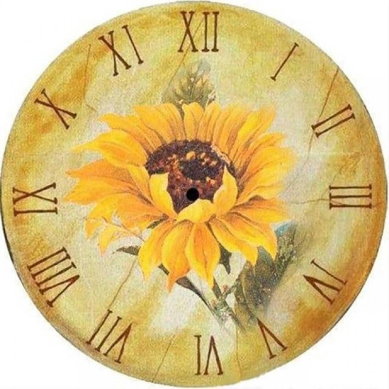 Sunflower Clock Face