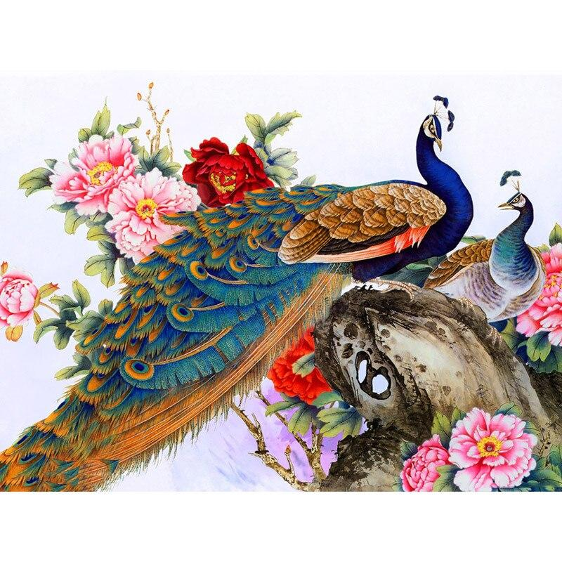 Flowers And Peacocks