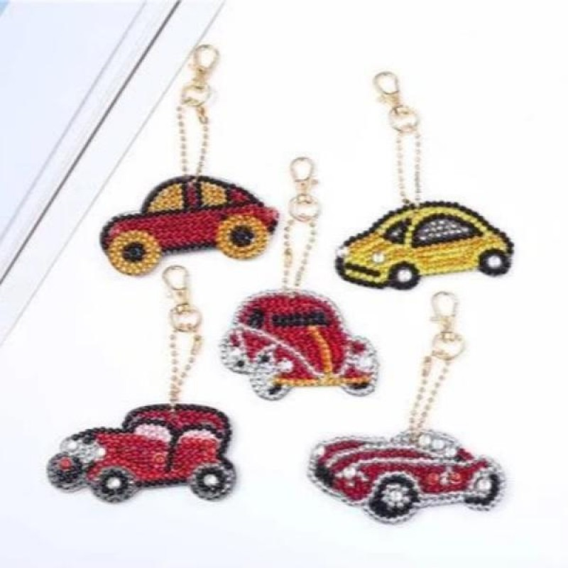 Car Key Chains 5 pcs