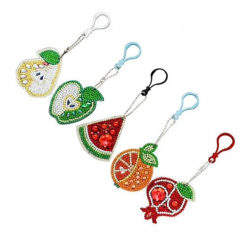 Fruit Key Chains 5 p...