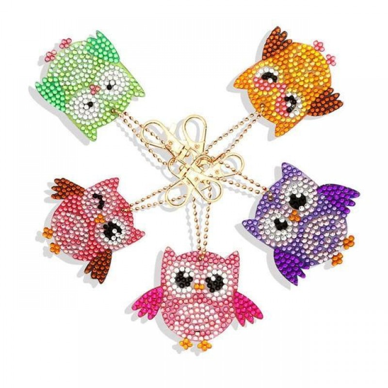 Owl Key Chains 5 pcs