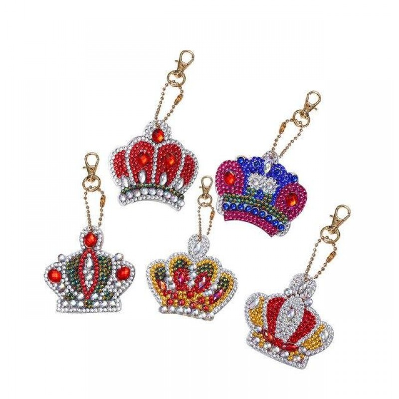 Crown Key Chains 5 p...