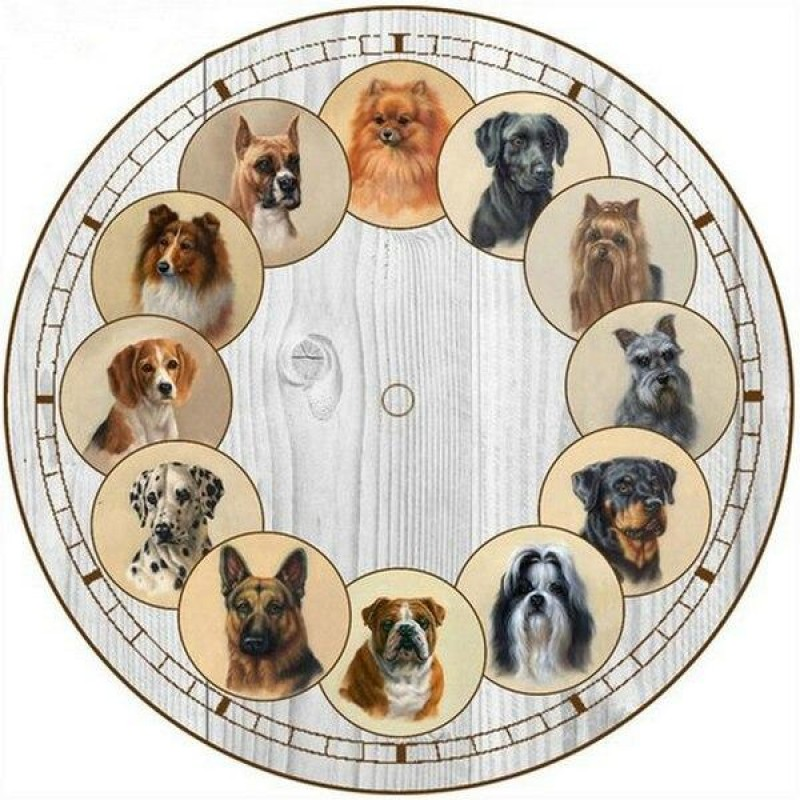 Dog Clock Face