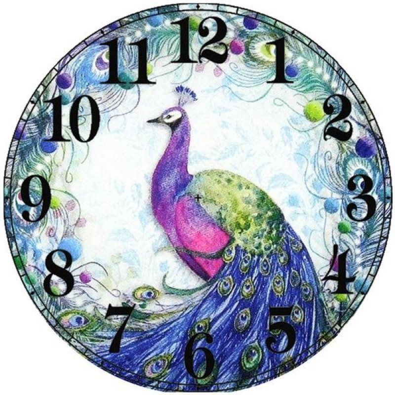 Peacock Clock Face