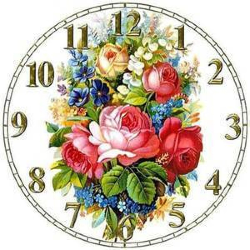 Flowery Clock Face