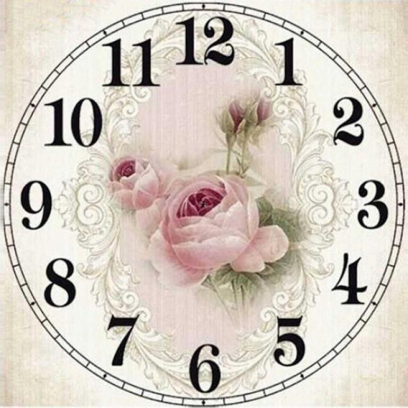 Fair Rose Clock Face