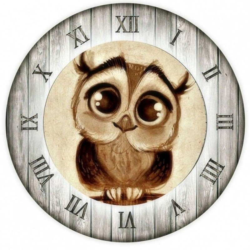 Owl Clock Face