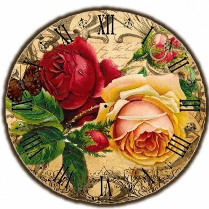 Rose Clock Face