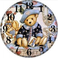 Teddy Bear Clock Face
