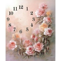 Romantic Rose Clock Face